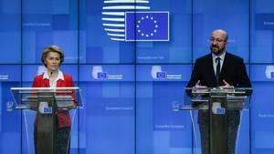 EU-Kommissionspräsidentin Ursula von der Leyen und EU-Ratschef Charles Michel (Archivbild)