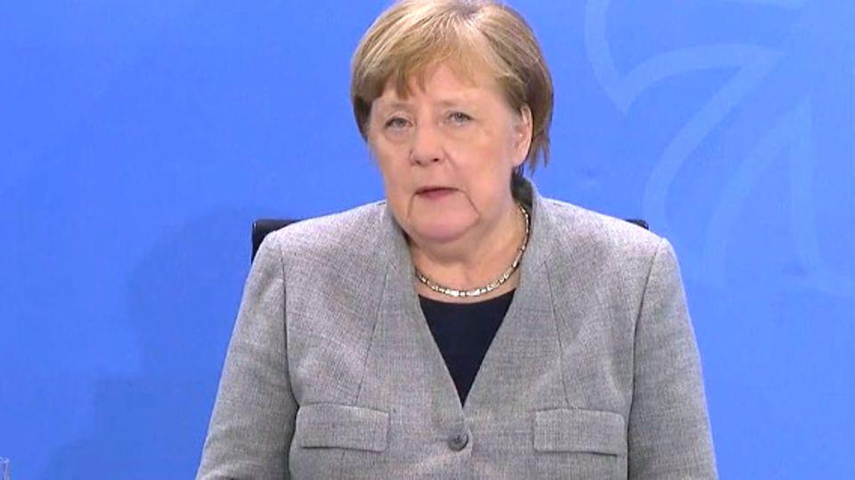 Sehen Sie hier Merkels Statement zur Corona-Krise