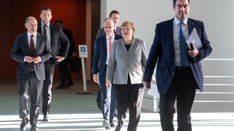 Merkel PK Corona