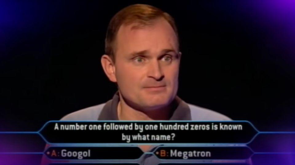 """Charles Ingram bei der Millionenfrage von """"Who Wants To Be A Millionaire"""""""