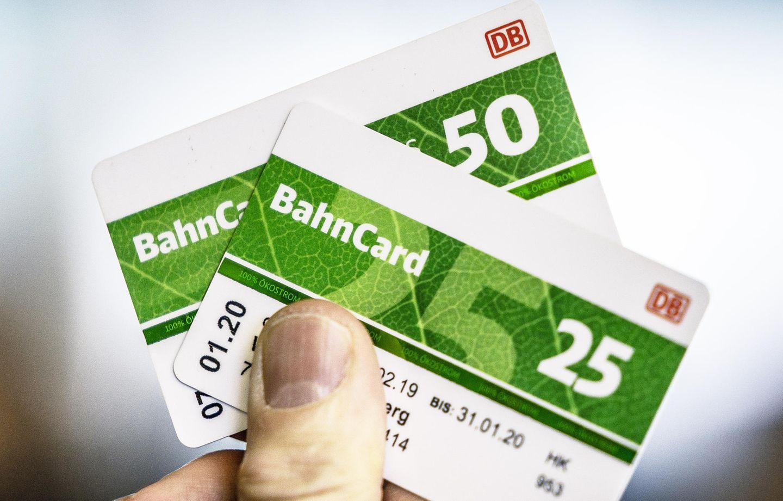Bahncard 25 und Bahncard 50