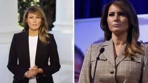 Melania Trump richtet sich per Videobotschaft an das Volk