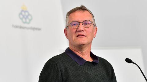 Schwedens Staatsepidemiologe Anders Tegnell bei einer Pressekonferenz