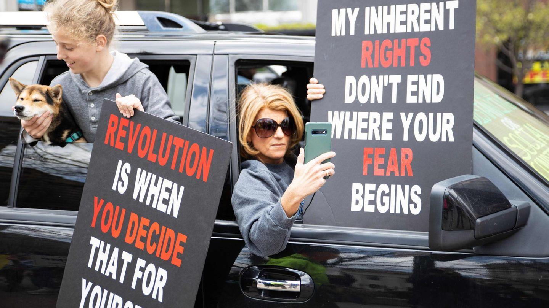 """Demo im Auto in Ohio gegen die """"Stay Home Order"""""""