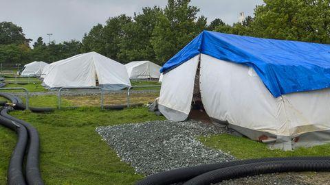 Flüchtlingsunterkunft Schnackenburgallee in Hamburg