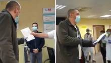 Ein Taxifahrer in Madrid wird für seinen Einsatz während der Corona-Pandemie belohnt.
