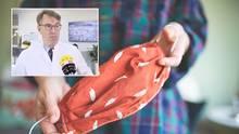Dr. Zinn erklärt, wie man seine Schutzmaske richtig desinfiziert