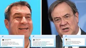 Markus Söder, Armin Laschet, Twitter-Kommentare