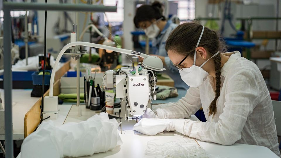 Produktion von Atemschutzmasken