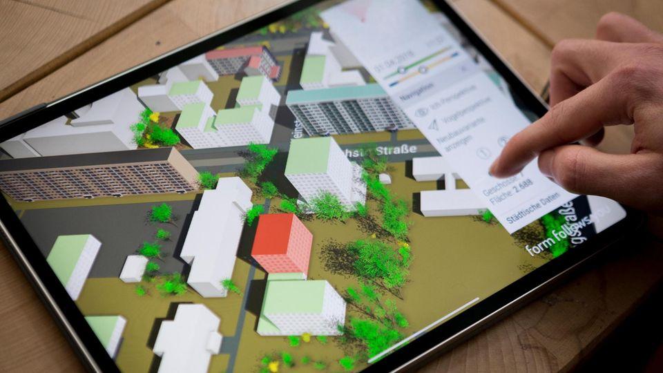 Simulation auf dem Tablet