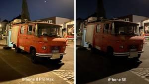 Hier sieht man den Unterschied beim Nachtmodus am deutlichsten: Beim iPhone 11 Pro wurde die Belichtungszeit auf drei Sekunden gestellt. Durch die Langzeitbelichtung bekommt das Bild beinahe einen künstlerischen Touch.