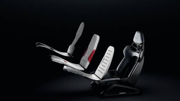 Porsche 3D Druck Sitz