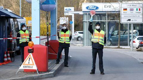 Grenzkontrollen in Oberbayern