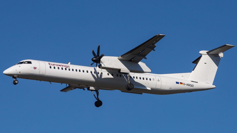 Die 15 Turboprops der Luftfahrtgesellschaft Walter (LGW) vomTyp De Havilland Dash waren bis vor Kurzem für Eurowings im Einsatz