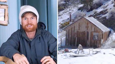 """Coronavirus: Brent Underwoodlebt alleine in derehemaligenMienenstadt""""CerroGordo""""im US-Bundesstaat Kalifornien."""