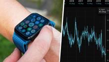 Apple Watch, Grafik zum Gewichtsverlauf