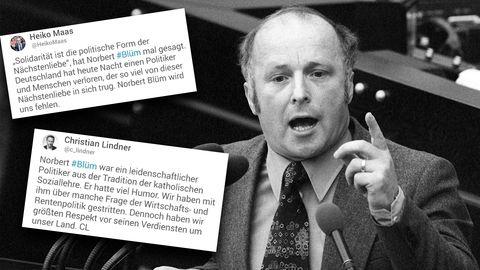 CDU-Politiker Norbert Blüm ist im Alter von 84 Jahren gestorben.