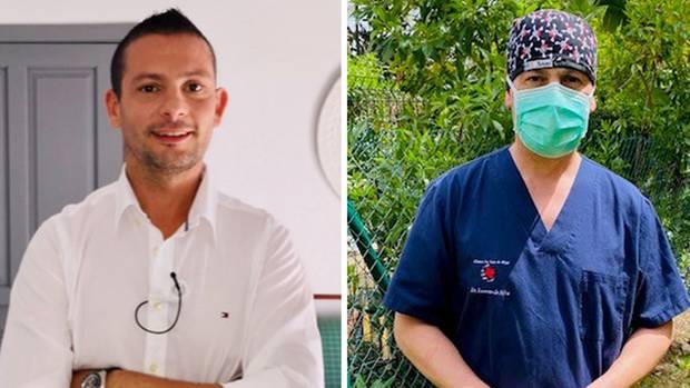 """Der deutsch-spanische Arzt Dr. Victor Lorenzo da Silva. Dass sein Praxis-Outfit unzureichend ist, weiß er nur zu genau. """"Es fehlt mir an Schutzkitteln und FFP-2-Masken."""""""