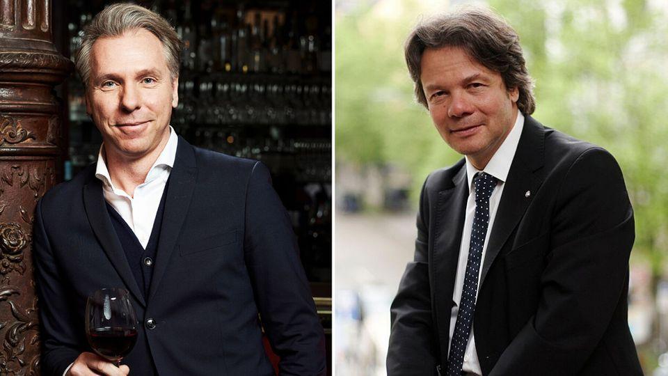 Weinhändler Thorsten Hermelink (links) und Wiesnwirt Michael Käfer