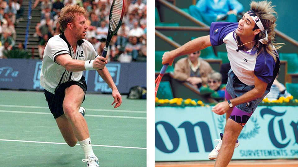 Boris Becker Andre Agassi