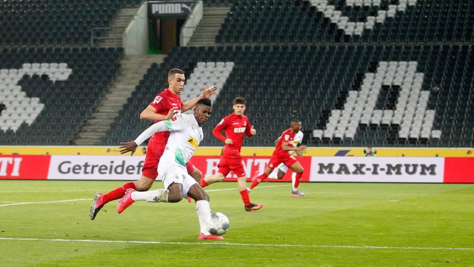 Das bisher  im bisher einzige Geisterspielzwischen Borussia Mönchengladbach und dem 1. FC Köln