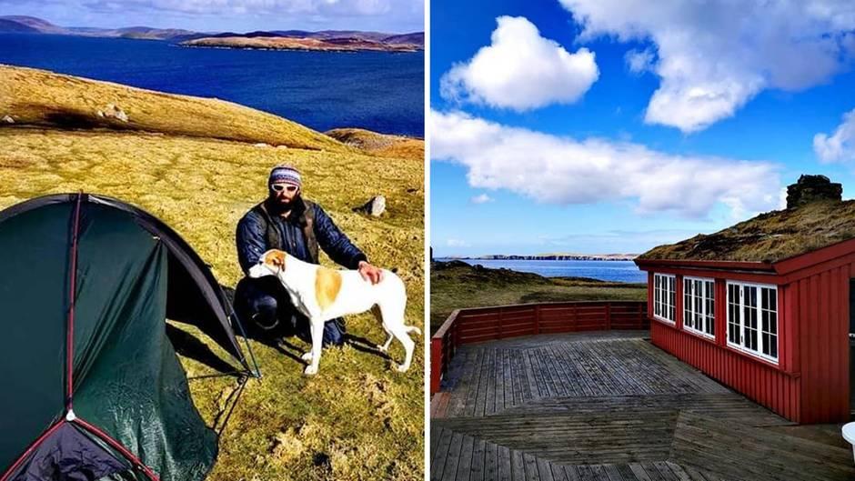 """""""Chris Walks UK"""": """"Die Isolation positiv sehen"""": Brite strandet wegen Corona-Lockdown auf unbewohnter Insel"""