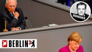Wolfgang Schäuble und Angela Merkel