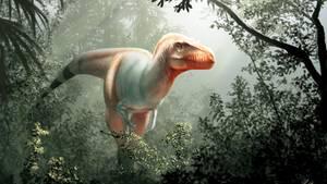 Der Saurier Thanatotheristes degrootorum in einer künstlerischen Darstellung