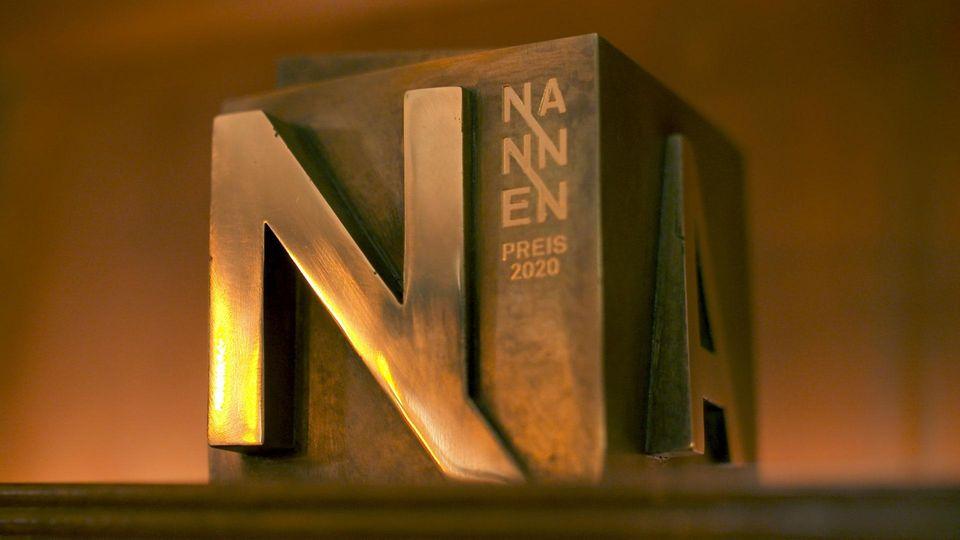 Eine der begehrten Nannen Preis-Trophäen