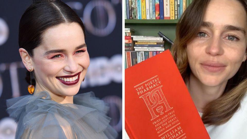 Schauspielerin Emilia Clarke startet auf Instagram eine Lese-Reihe.