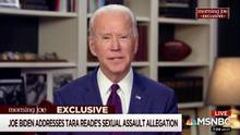 Der demokratische Präsidentschaftsbewerber Joe Biden bei seinem Interview mit dem US-SenderMSNBC