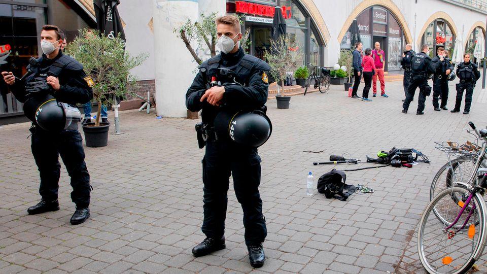 """Der Ort des Angriffs auf das Kamerateam der ZDF """"Heute Show"""""""
