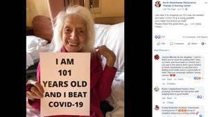 Die 101-jährige Frau hat eine Corona-Infektion überstanden