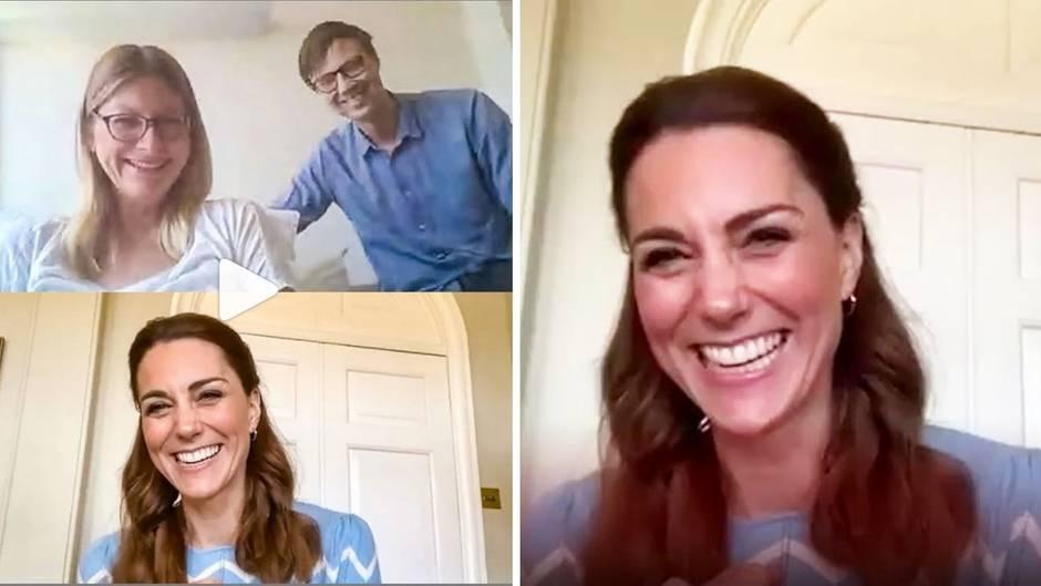 Kurz nach der Entbindung: Herzogin Kate überrascht frisch gebackene Eltern mit Videochat
