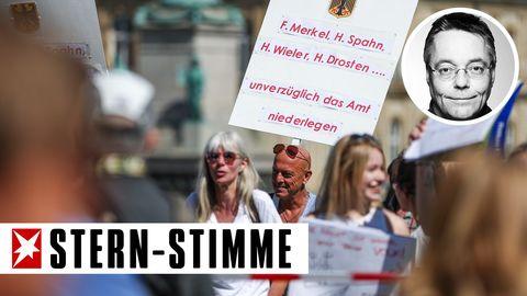 Demo gegen die Corona-Maßnahmen in Baden-Württember