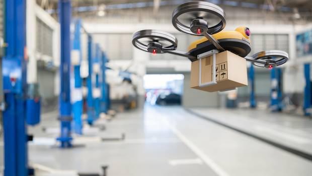 Drohnen könnten aus dem Lager direkt zum Kunden liefern.