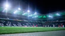 Geisterspiel im Borussia-Park in Mönchengladbach