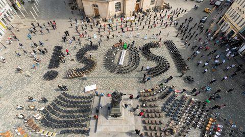 Gastwirte demonstrieren in Dresden