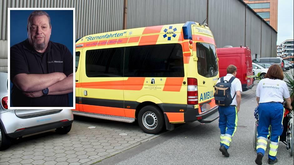 Frank Wenzlow, Vorsitzender des Vereins Ambulance Service Nord (kl. Bild) und eine Sternenfahrt (gr. Bild)