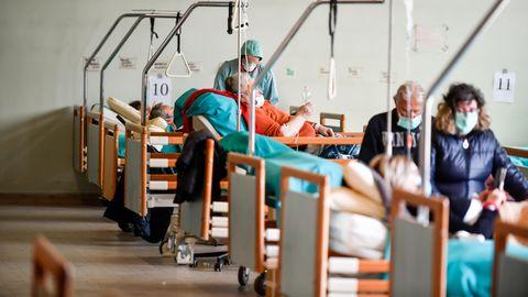 Eine Aufnahme aus dem Krankenhaus in Brescia