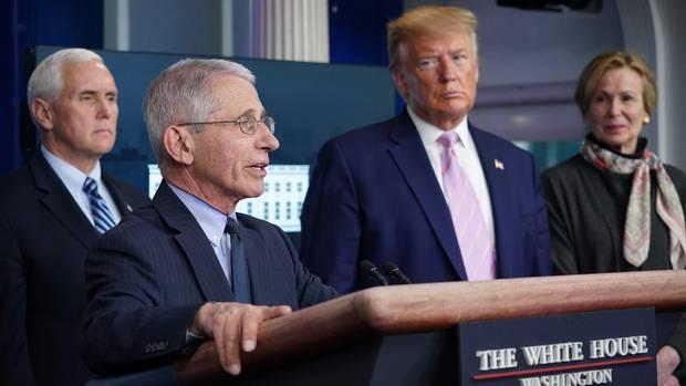 Donald Trump Mike Pence Anthony Fauci Deborah Birx