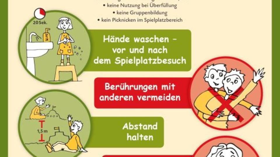 Spielplatz-Hygieneregeln