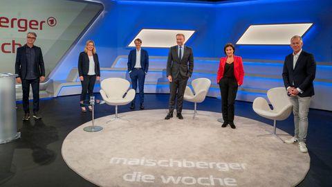BeiSandra Maischberger diskutierten die Gäste um die richtige Corona-Strategie