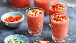Gazpacho mit Erdbeeren