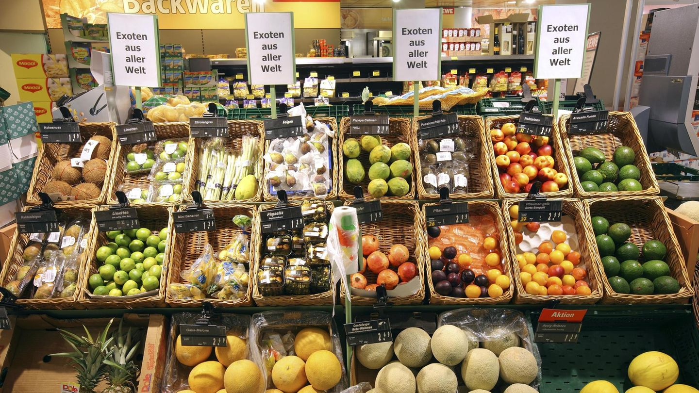 Südfrüchte im Supermarkt