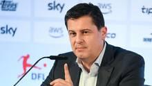 sport kompakt: Christian Seifert, Geschäftsführer der DFL auf einer Pressekonferenz