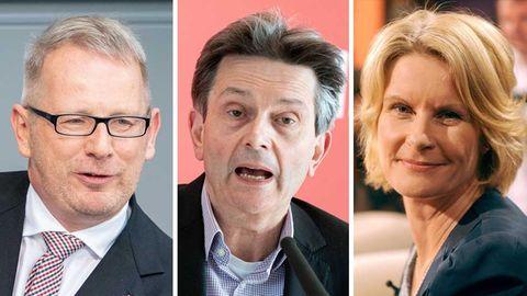Johannes Kahrs, SPD-Fraktionschef Rolf Mützenich, Susanne Gaschke