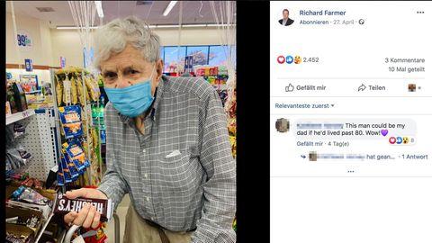 Alte Tradition: 93-Jähriger trampt zum Supermarkt, um Schokolade für seine Frau zu kaufen