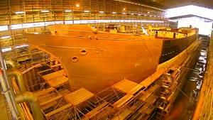 Restauration des Segelschiffs