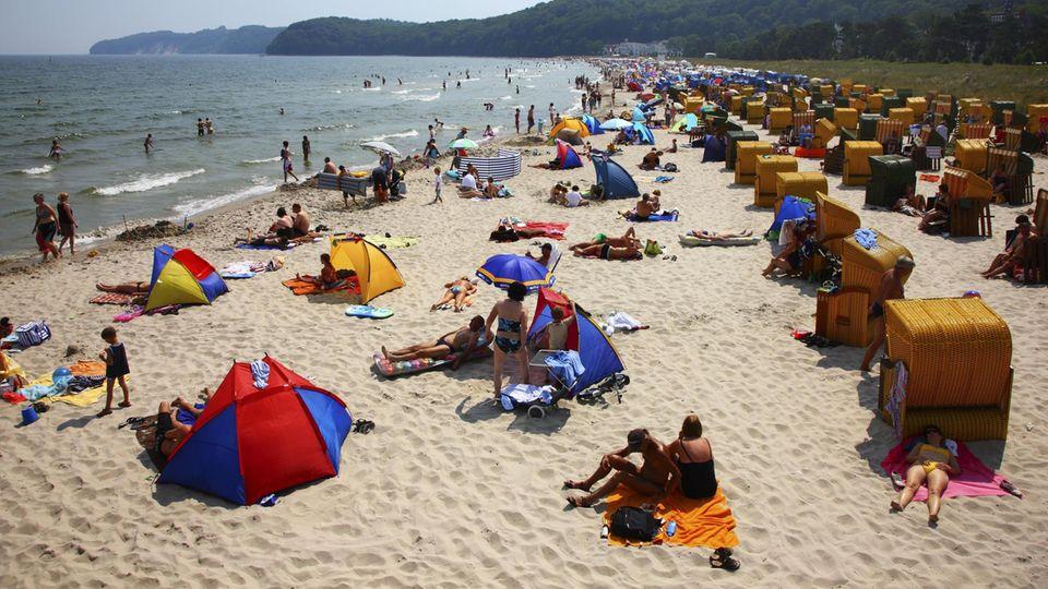 Gefüllter Strand
